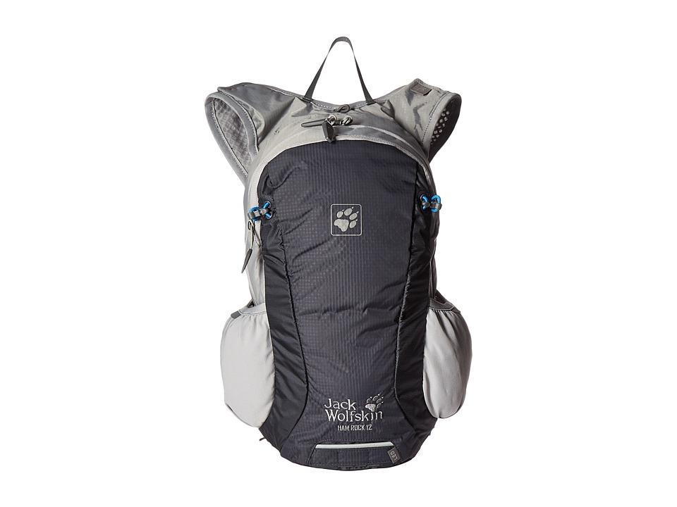 Jack Wolfskin Ham Rock 12 (Ebony) Backpack Bags