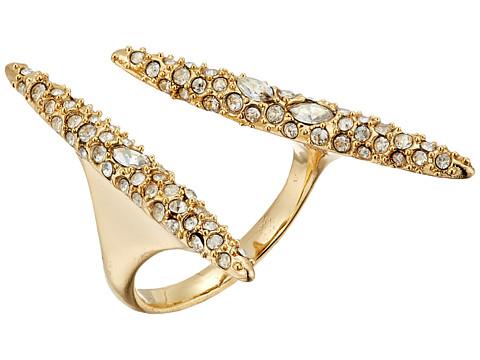 Alexis Bittar Crystal Encrusted Modernist Spear Ring