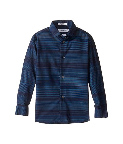 Calvin Klein Kids Long Sleeve Infinity Horizontal Stripe Shirt (Little Kids)