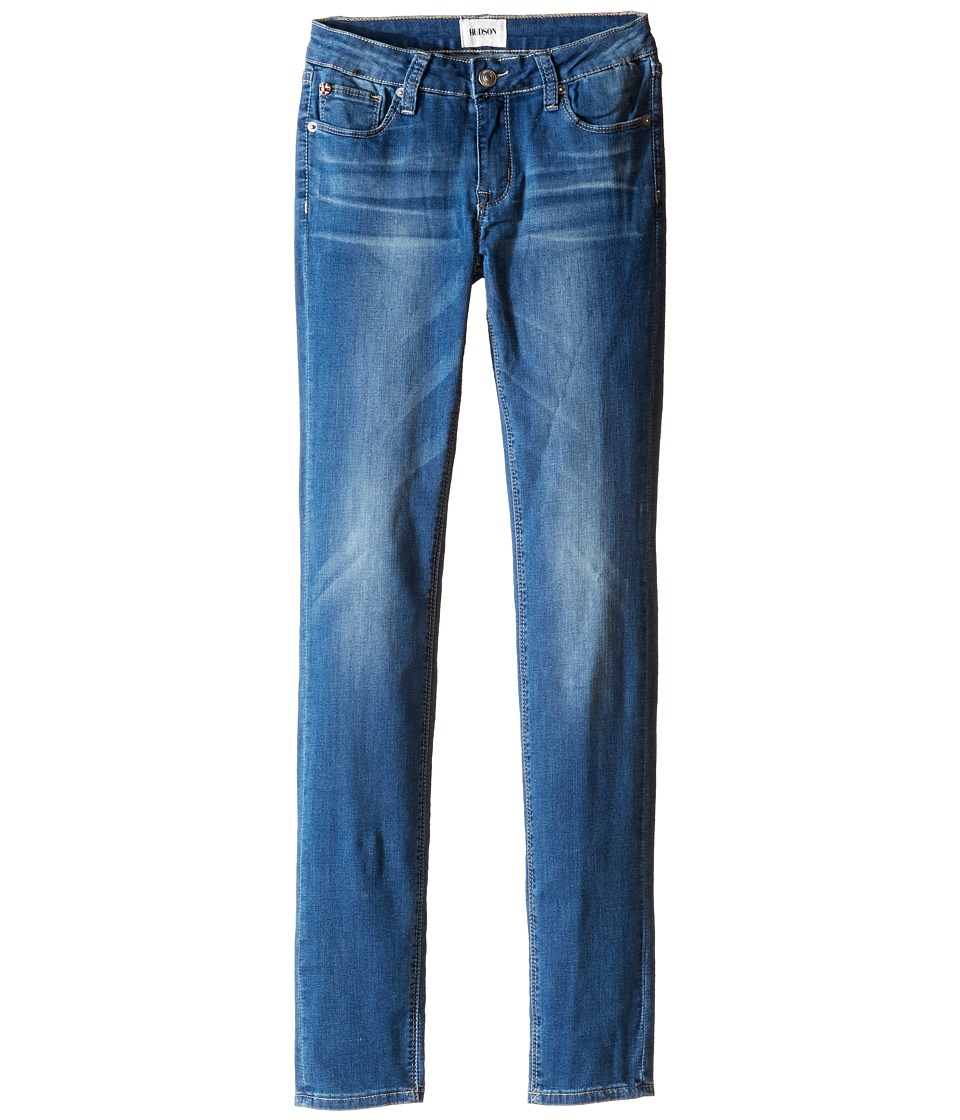 Hudson Kids - Dolly Skinny Five-Pocket Skinny Superstretch in Feather Blue (Big Kids) (Feather Blue) Girls Jeans