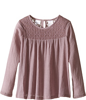 Kardashian Kids - Lace Bodice Blouse Gathering with Keyhole Opening (Toddler/Little Kids)