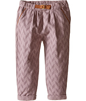 Kardashian Kids - Herringbone Fabric Pleated Pants with Faux Suede Ring Belt (Infant)