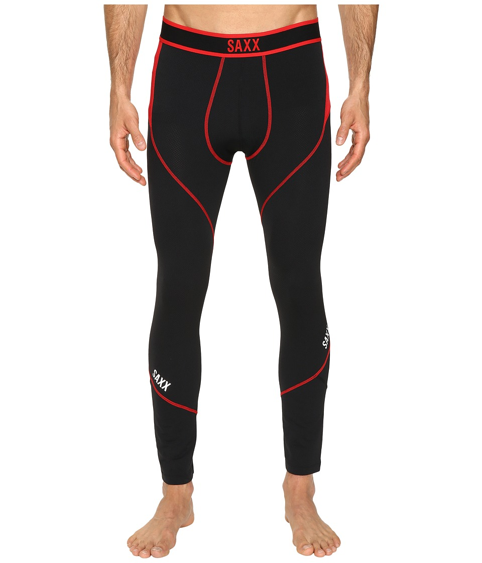 SAXX UNDERWEAR Kinetic Long John (Black/Red) Men