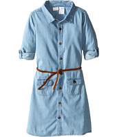Kardashian Kids - Chambray Pocket Shirtdress (Toddler/Little Kids)