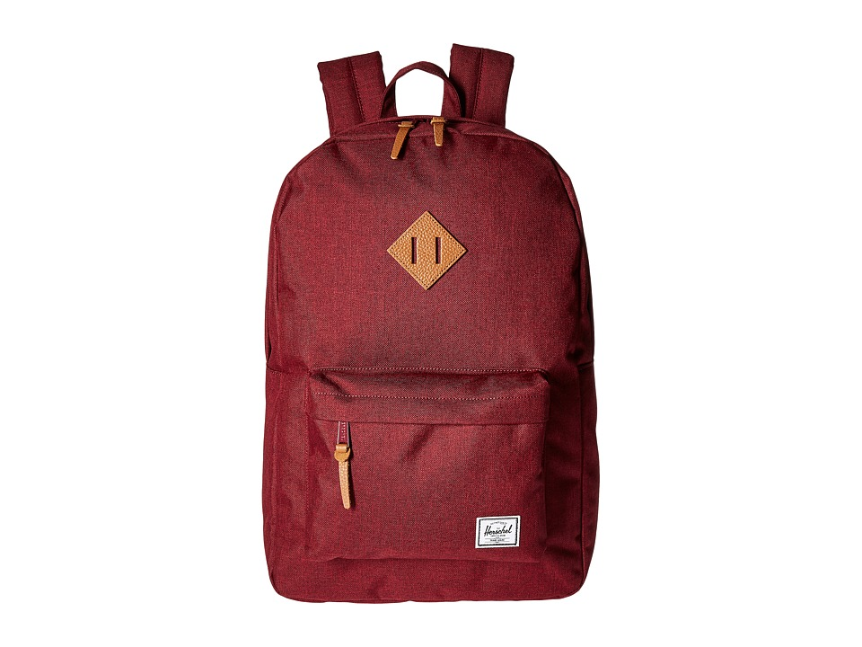 Herschel Supply Co. Heritage (Winetasting Crosshatch/Tan Leather) Backpack Bags