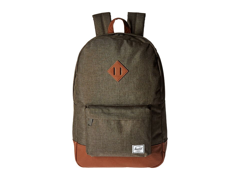 Herschel Supply Co. Heritage (Canteen Crosshatch/Tan Synthetic Leather) Backpack Bags