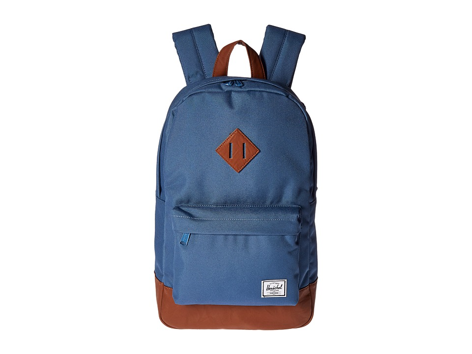 Herschel Supply Co. Heritage Mid-Volume (Stellar/Tan Synthetic Leather) Backpack Bags