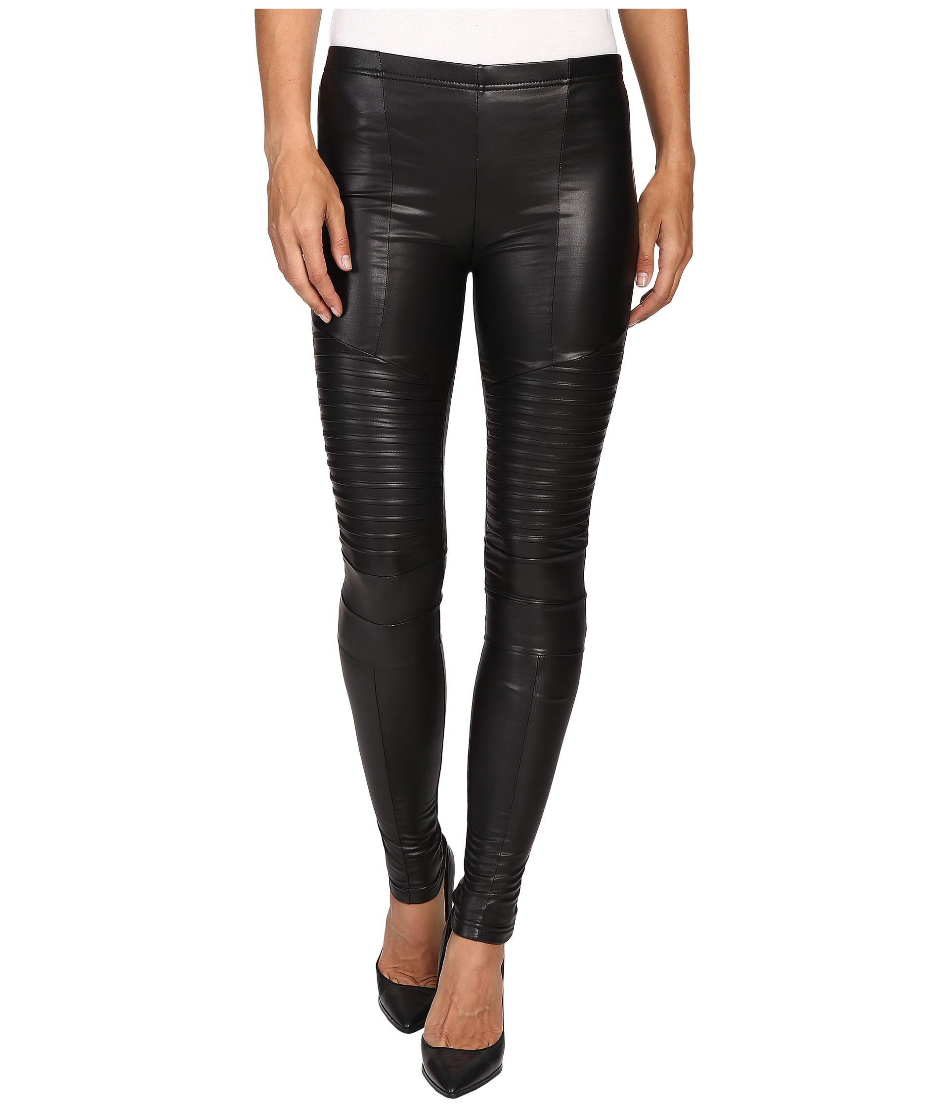 Plush Fleece-Lined Full Liquid Moto Leggings at Zappos.com