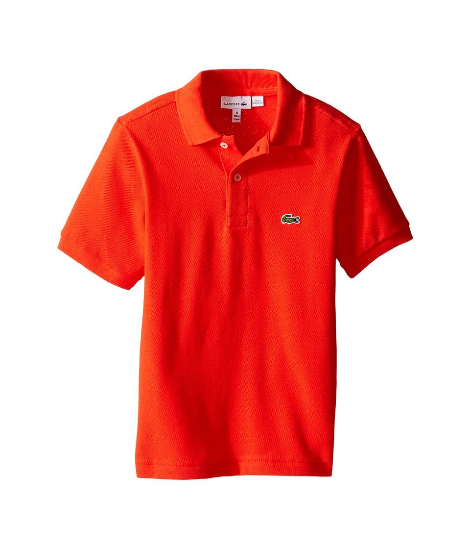 Lacoste Kids - Short Sleeve Classic Pique Polo Shirt (Toddler/Little Kids/Big Kids) (Redcurrant Bush) Boy