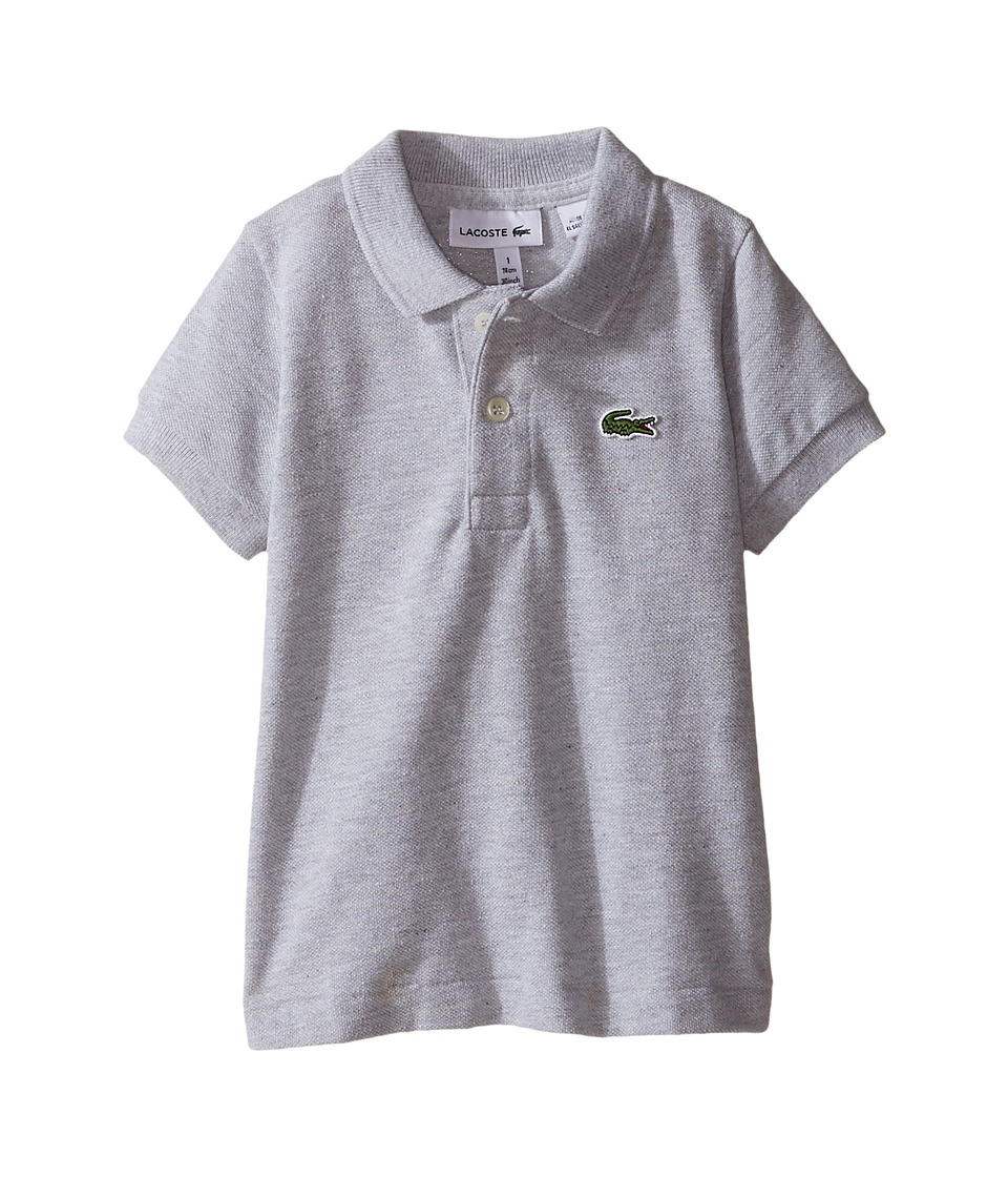 Lacoste Kids - Short Sleeve Classic Pique Polo Shirt (Toddler/Little Kids/Big Kids) (Silver Chine) Boy