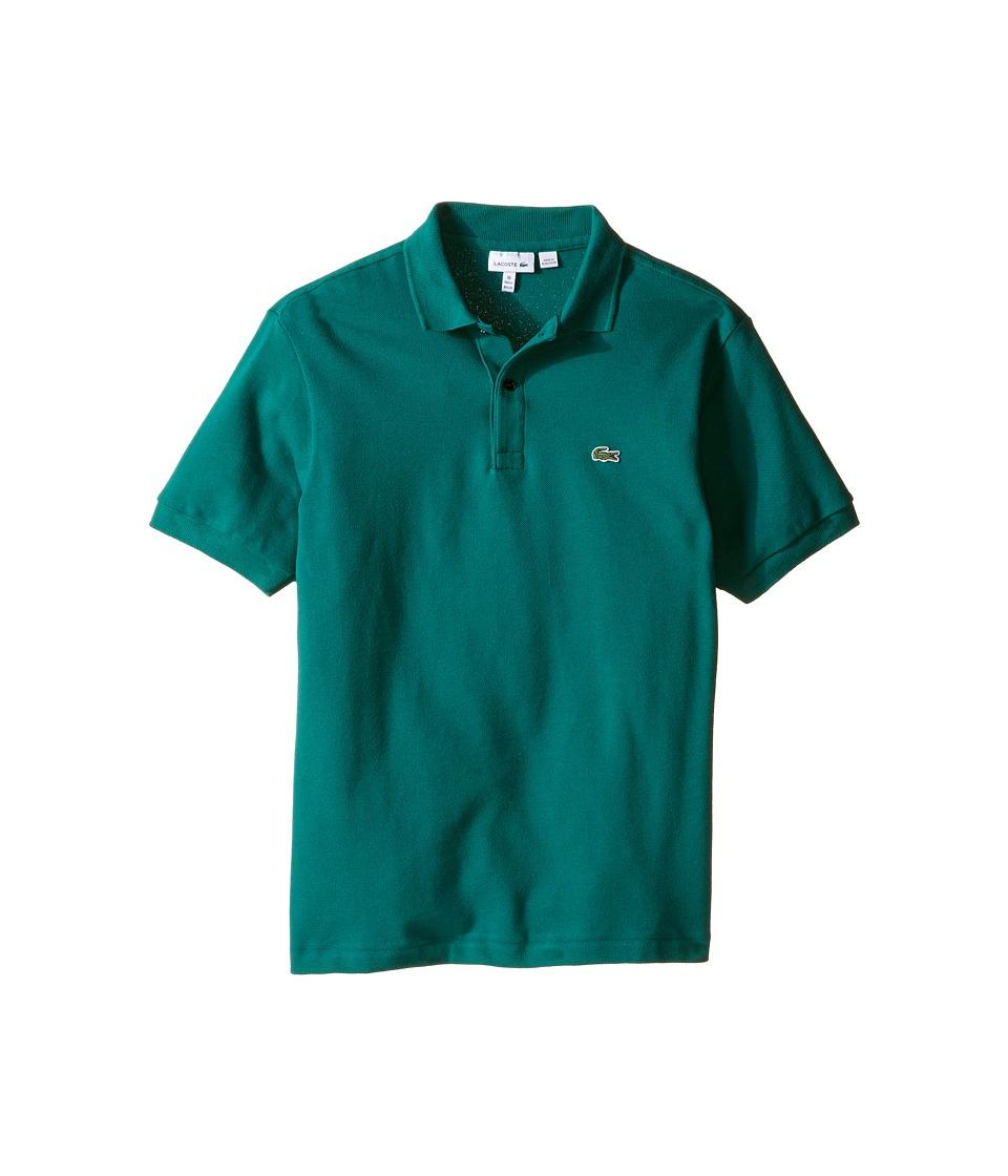 Lacoste Kids - Short Sleeve Classic Pique Polo Shirt (Toddler/Little Kids/Big Kids) (Bottle Green) Boy