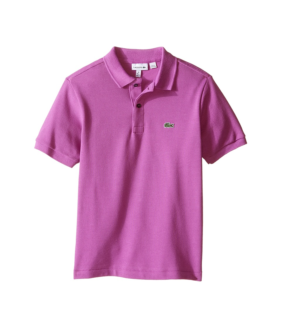 Lacoste Kids - Short Sleeve Classic Pique Polo Shirt (Toddler/Little Kids/Big Kids) (Irresistible) Boy