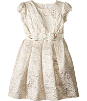 Us Angels - Brocade Short Sleeve Princess Bodice Empire Dress (Toddler/Little Kids)