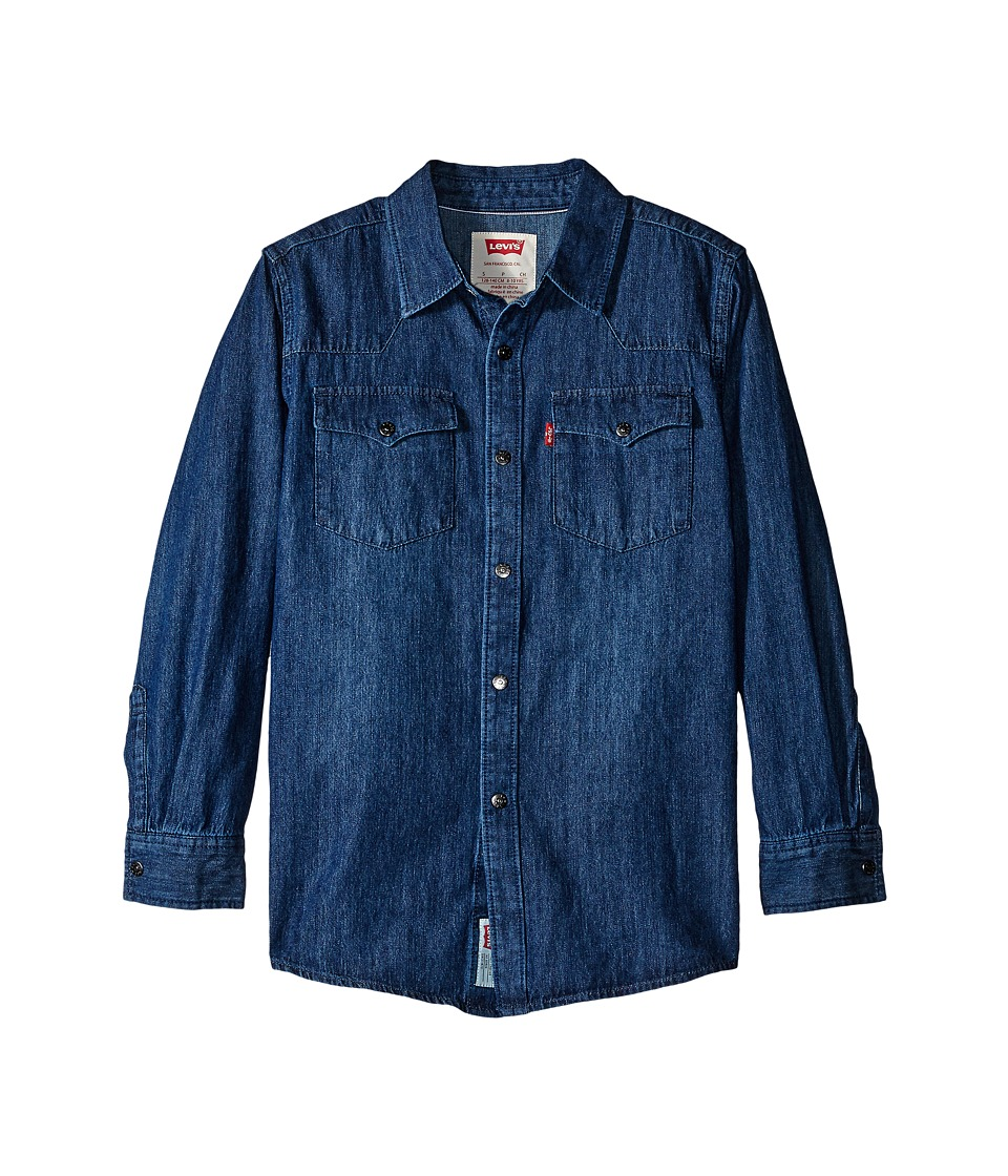 Levis(r) Kids - Boys Western Woven Shirt (Big Kids) (Creek) Boys Clothing