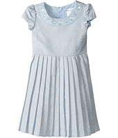 Us Angels - Short Sleeve Brocade Dress w/ Pleats (Toddler/Little Kids)