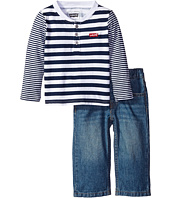 Levi's® Kids - Knit Henley and Woven Set (Infant)