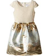 Us Angels - Cap Sleeve Metallic Brocade Dress (Big Kids)