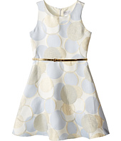 Us Angels - Sleeveless Dot Printed Borcade Dress (Big Kids)