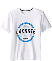 Lacoste Kids - Sport Cotton Poly Lacoste Graphic Tee Shirt (Toddler/Little Kids/Big Kids)