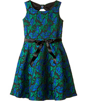 Us Angels - Rose Brocade Sleeveless Bow Back Dress (Big Kids)