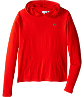 Lacoste Kids - Long Sleeve Jersey Hoodie Tee Shirt (Toddler/Little Kids/Big Kids)