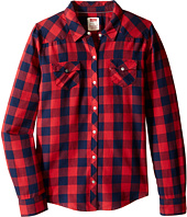 Levi's® Kids - The Western Long Sleeve Plaid Top (Big Kids)