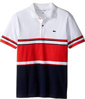 Lacoste Kids - Short Sleeve Bold Striped Polo (Toddler/Little Kids/Big Kids)