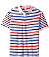 Lacoste Kids - Short Sleeve Multi Stripe Mini Pique Polo (Infant/Toddler/Little Kids/Big Kids)
