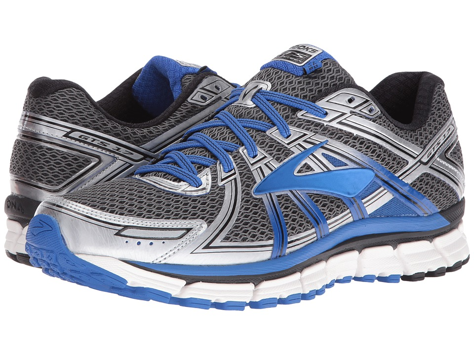 Brooks Adrenaline GTS 17 (Anthracite/Electric Brooks Blue/Silver) Men