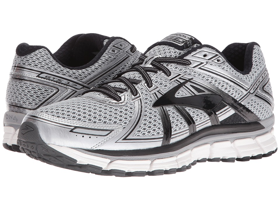 Brooks - Adrenaline GTS 17 (Silver/Black/Anthracite) Mens Running Shoes