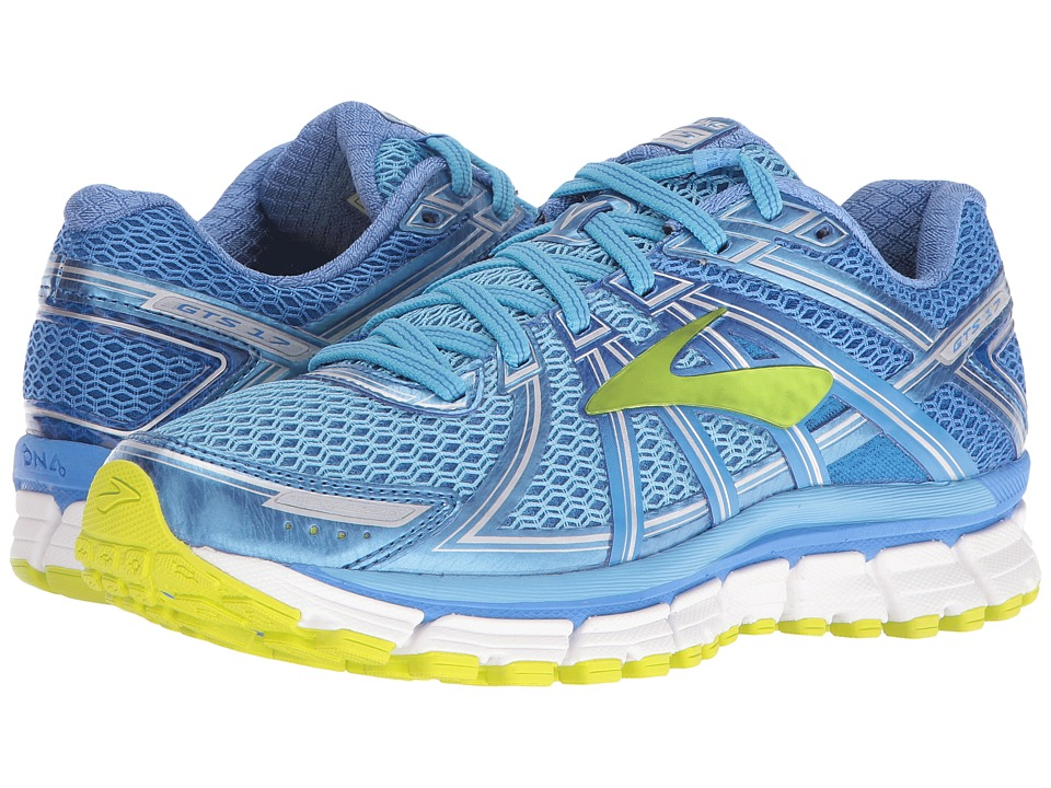 Brooks - Adrenaline GTS 17 (Azure Blue/Palace Blue/Lime Punch) Womens Running Shoes