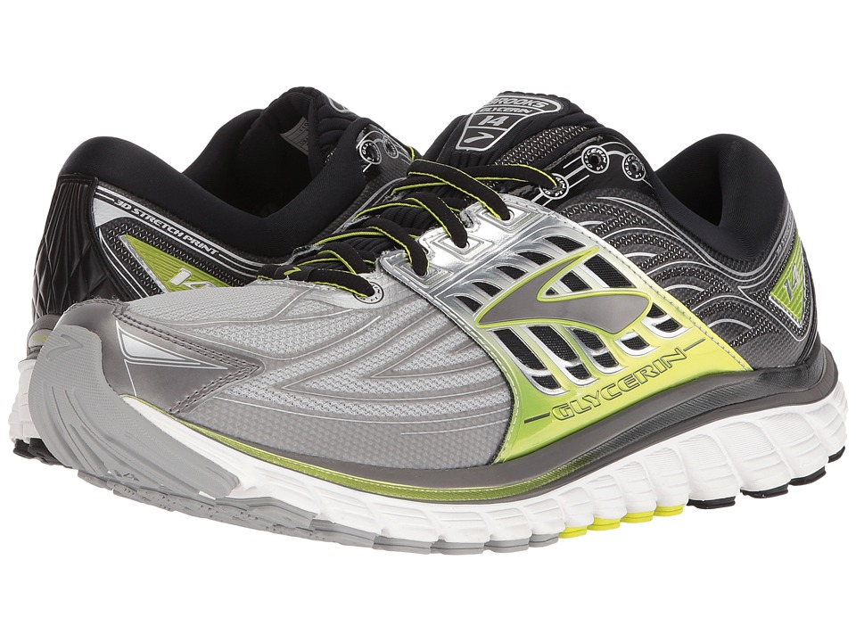Brooks Glycerin 14 (Silver/Black/Lime Punch) Men