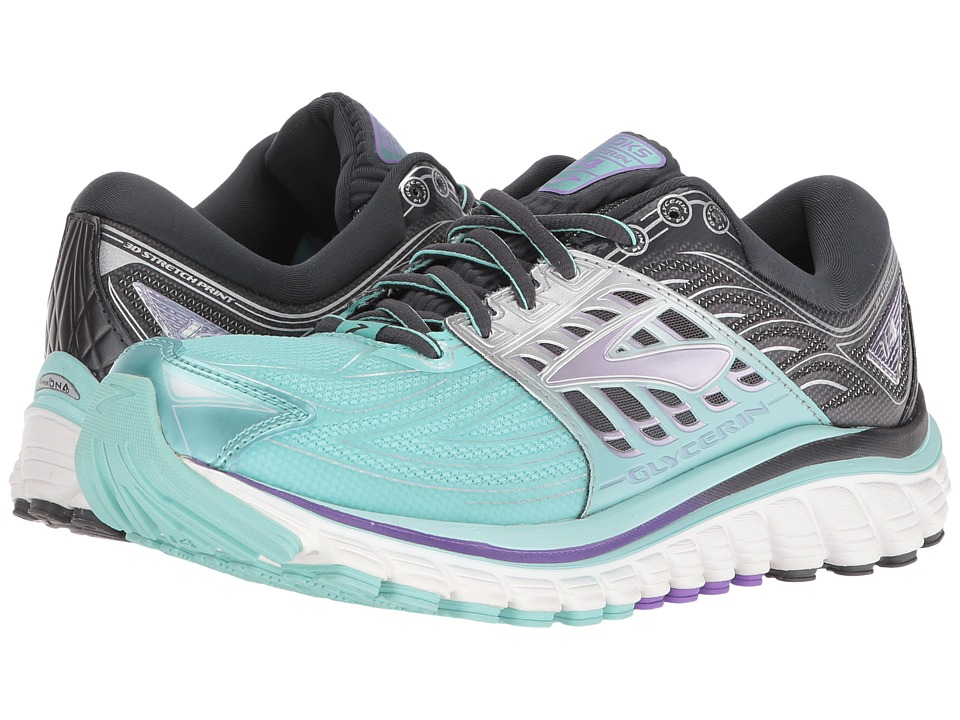 Brooks Glycerin 14 (Aruba Blue/Anthracite/Purple Love) Women