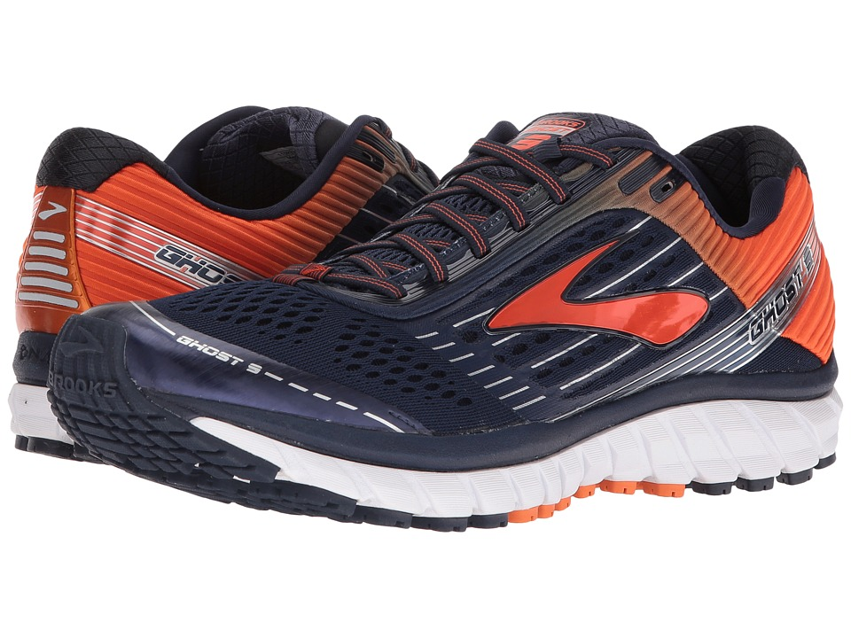 Brooks Ghost 9 (Peacoat/Red Orange/Black) Men