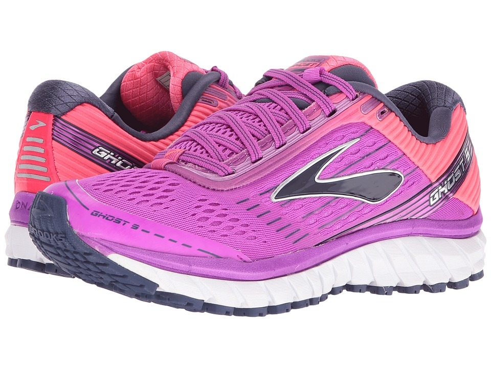Brooks Ghost 9 (Purple Cactus Flower/Diva Pink/Patriot Blue) Women