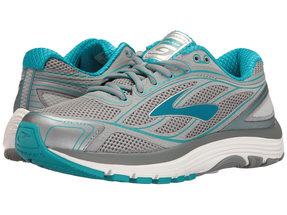 BROOKS Dyad 9 (Primer Grey/Capri Breeze/Silver) Women's R...