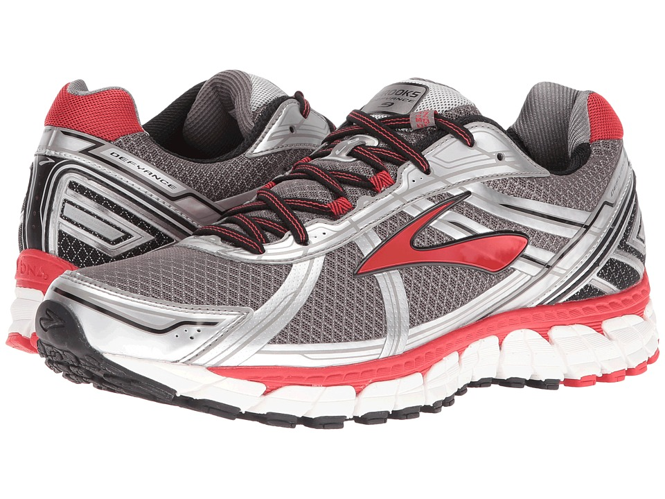 Brooks Defyance 9 (Charcoal/Silver/High Risk Red) Men