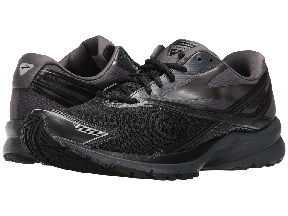 Brooks Launch 4 (Black/Anthracite/Silver) Men