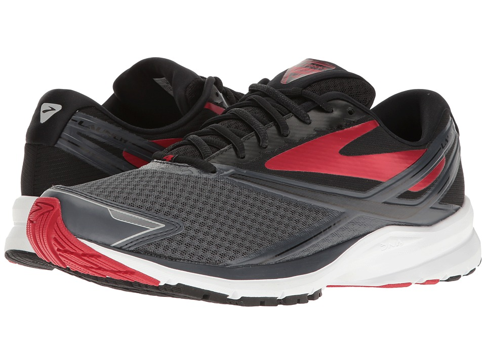Brooks - Launch 4 (Anthracite/Black/High Risk Red) Mens Running Shoes