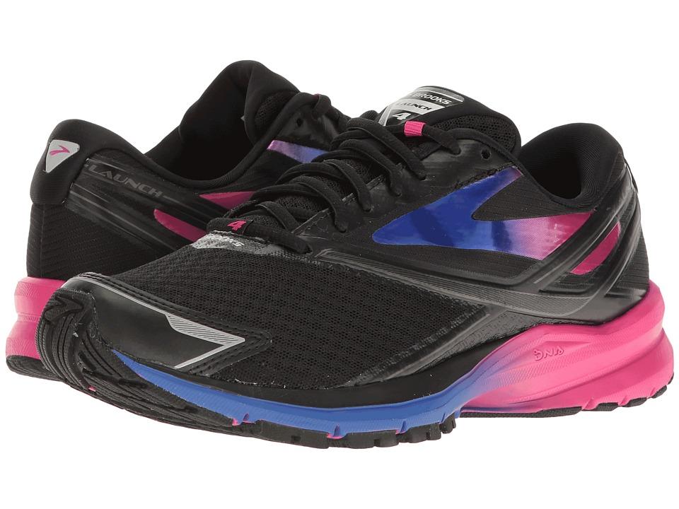 Brooks - Launch 4 (Black/Fuchsia Purple/Dazzling Blue) Womens Running Shoes