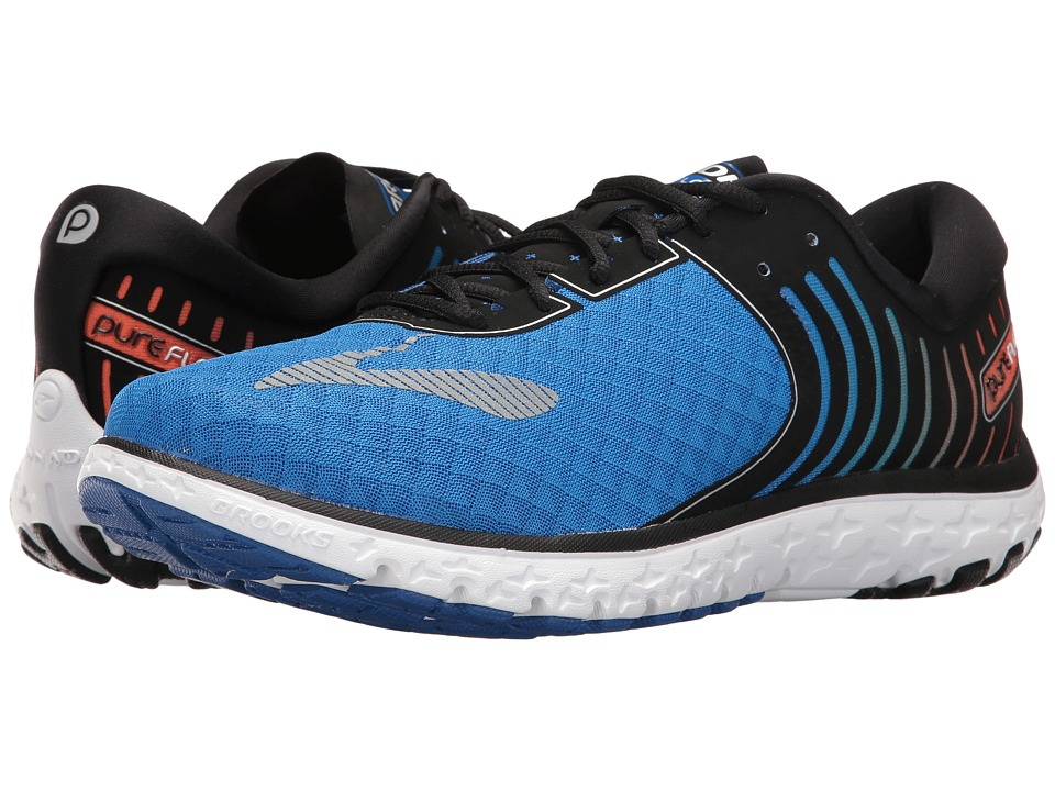 Brooks - PureFlow 6 (Electric Brooks Blue/Black/High Risk Red) Mens Running Shoes