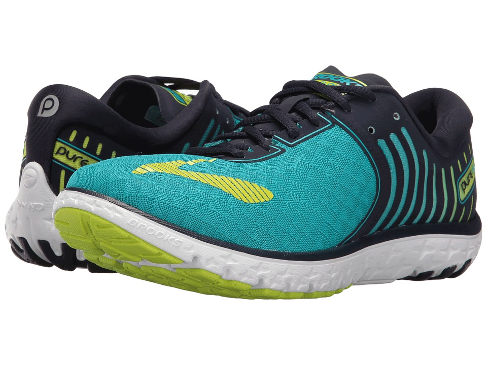 Brooks - PureFlow 6 (Bluebird/Peacoat/Lime Punch) Womens Running Shoes
