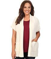 B Collection by Bobeau Curvy - Plus Size Larken Ribbed Knit Cardigan