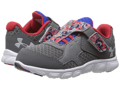 Under Armour Kids UA BINF Thrill RN AC (Infant/Toddler) - Graphite/White/Overcast Grey