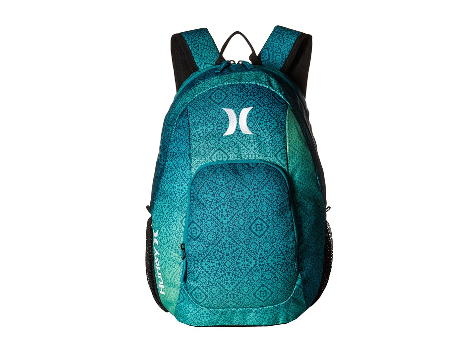Hurley - One and Only Printed Backpack (Rio Teal/Rage Green/White) Backpack Bags