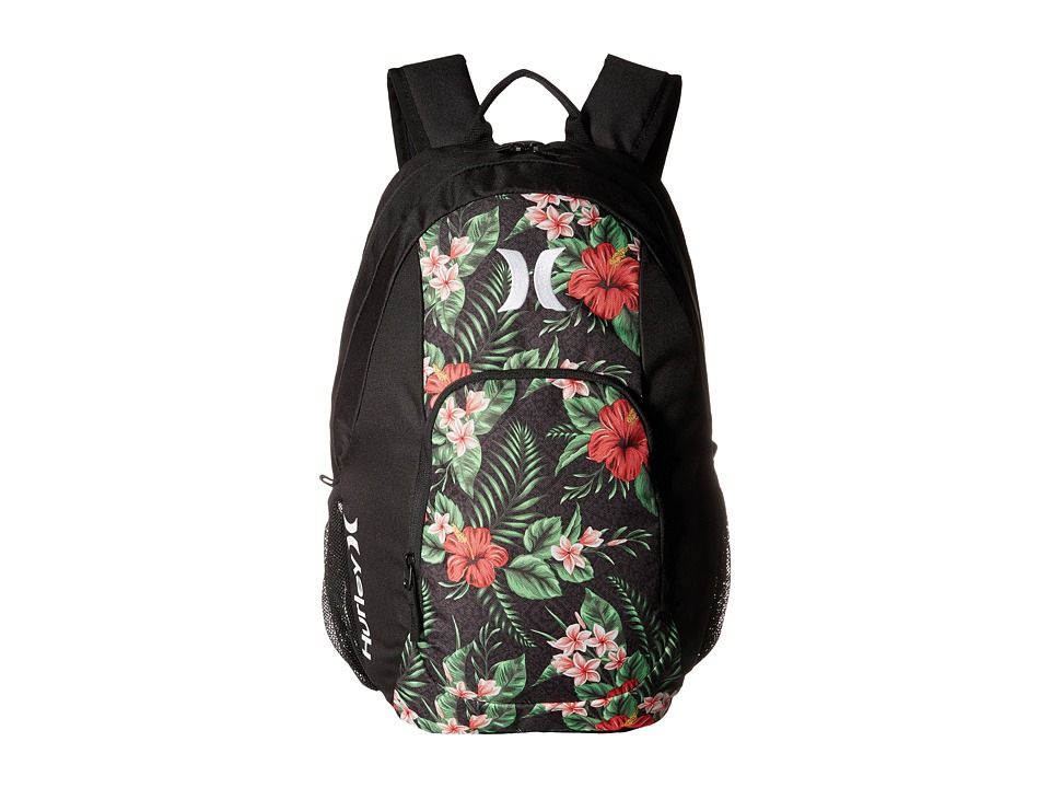 Hurley - One and Only Printed Backpack (Black/Multi/White) Backpack Bags