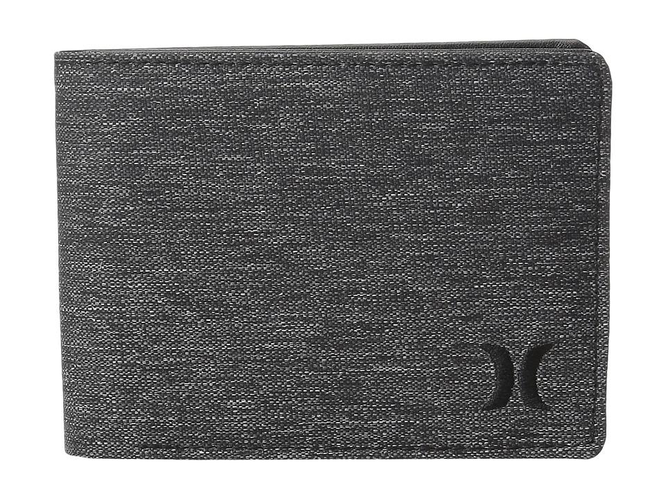 Hurley - Deans List Wallet (Charcoal Heather/Black) Wallet Handbags