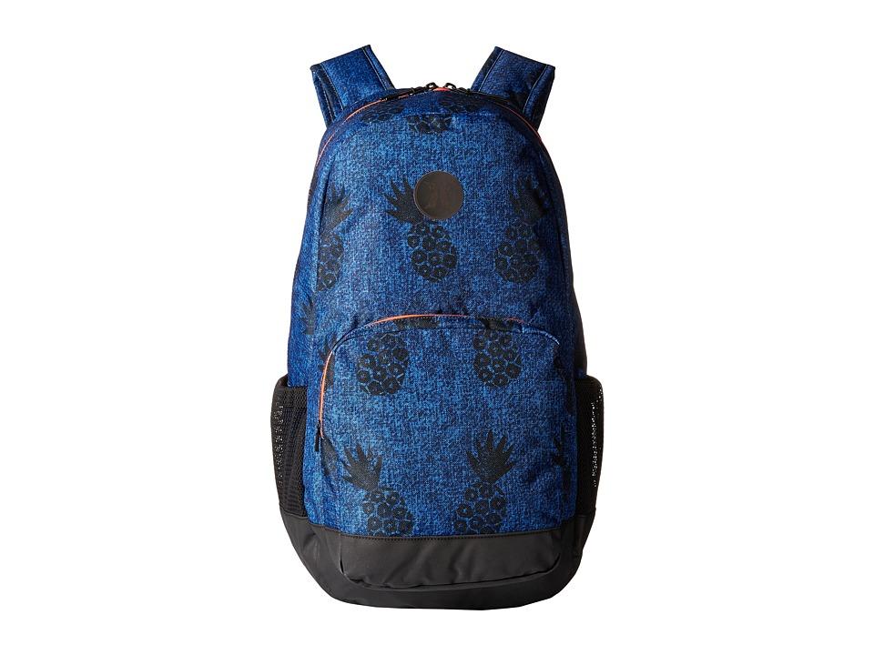 Hurley - Renegade Printed Backpack (Star Blue/Bright Crimson/Black) Backpack Bags