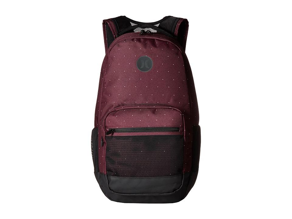 Hurley - Patrol Printed Backpack (Maroon/White/Black) Backpack Bags