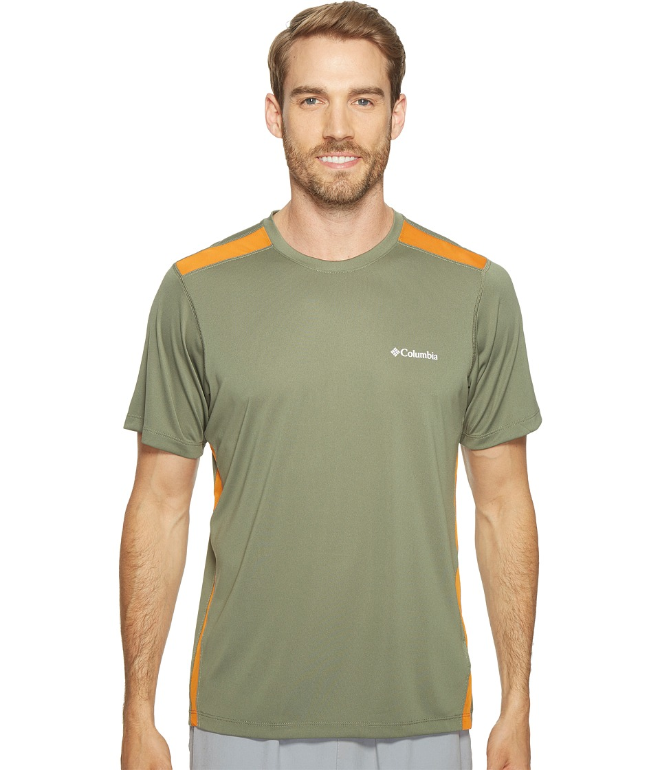 Columbia Ridge Dash Short Sleeve Shirt (Cypress/Valencia) Men